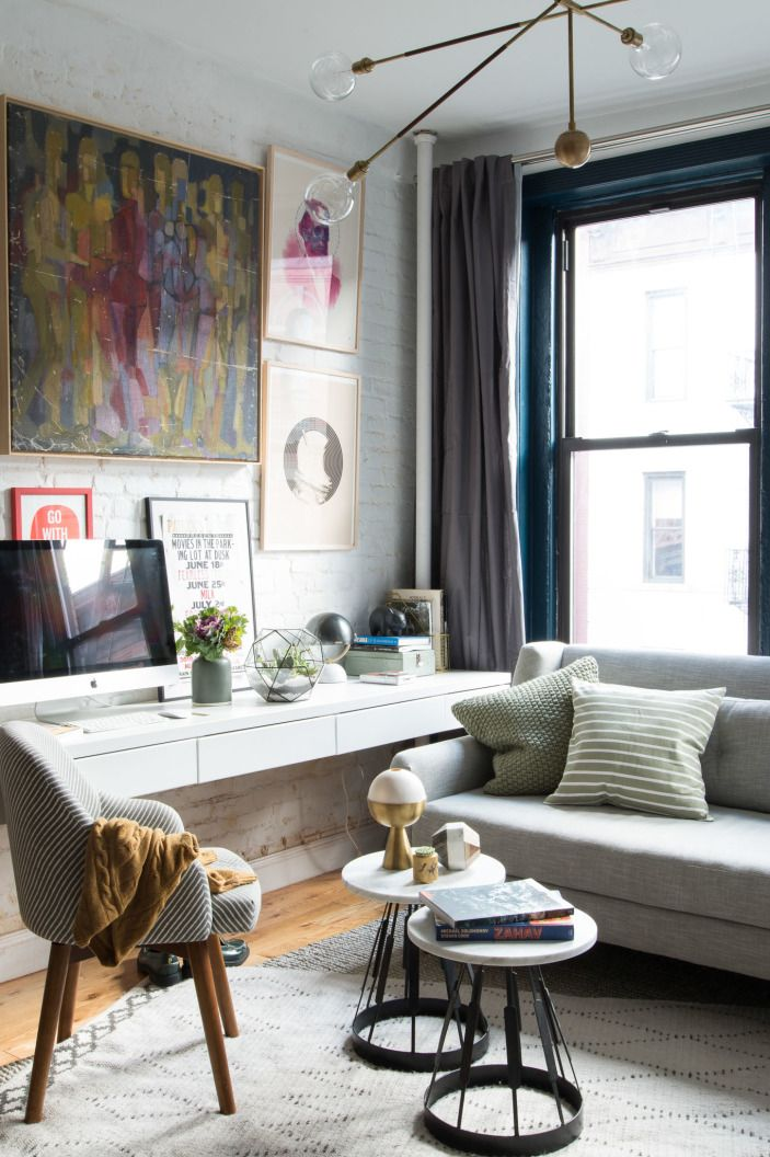 A Guy Named Patrick S Nofilter Apartment Homepolish Small Living Room Design Desk In Living Room Small Room Design #small #apartment #living #room #designs
