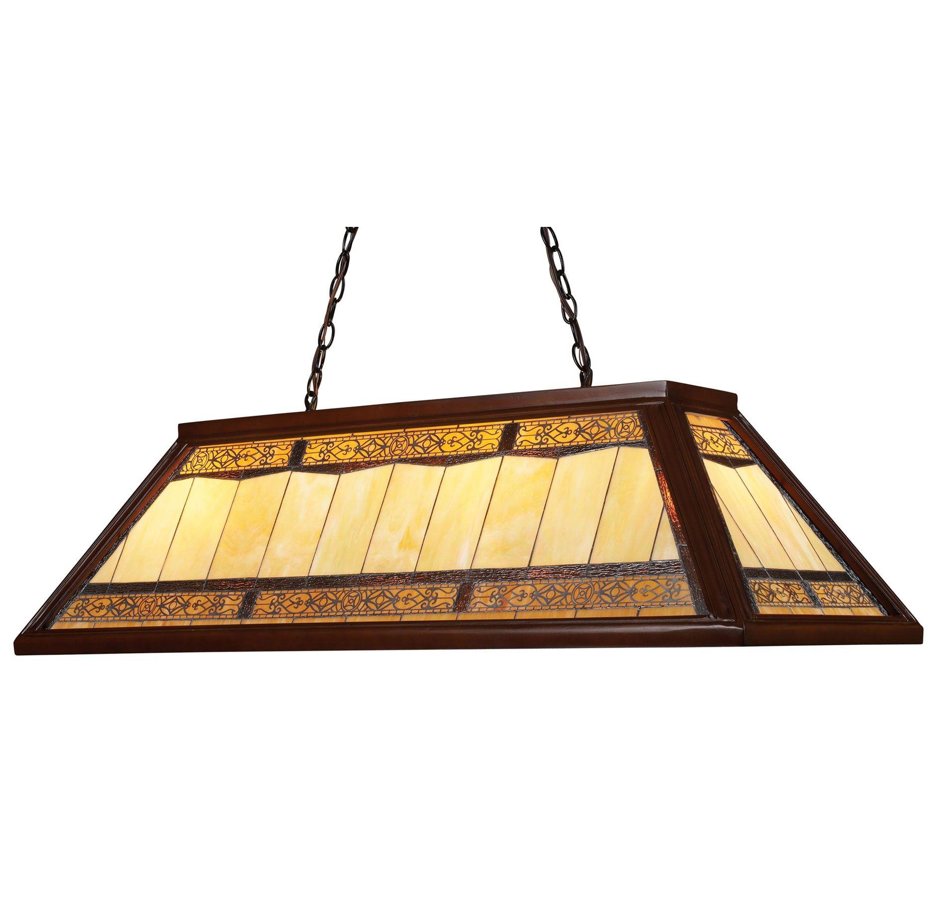 Landmark Tiffany Game Room Lighting 4-Light Chandelier In