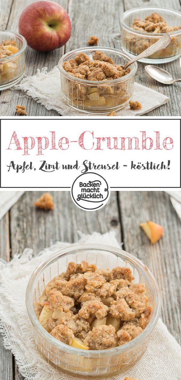 apple crumble apfel crumble rezept s speisen. Black Bedroom Furniture Sets. Home Design Ideas