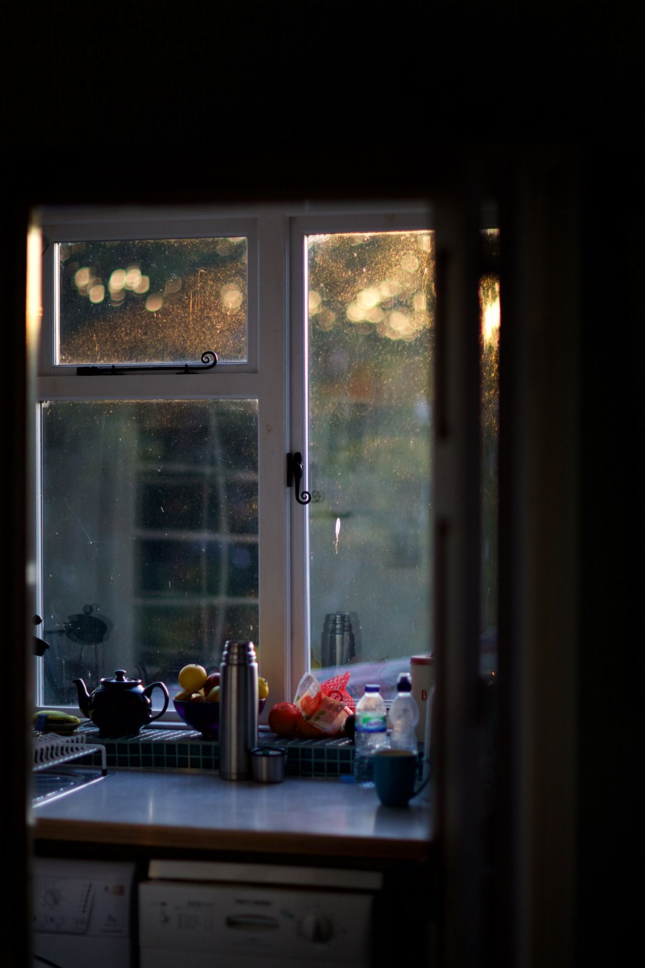 Kitchen window ledge  lensblrnetwork ramparts morning by jules justjulespicturestumblr