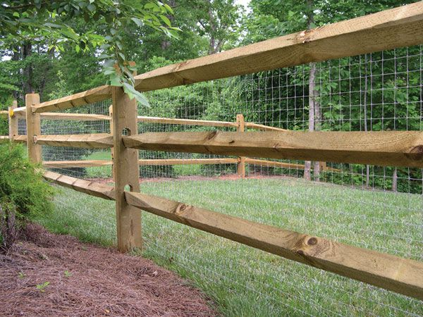 Sample Split Rail Fence That Goes With The Video Cloture De