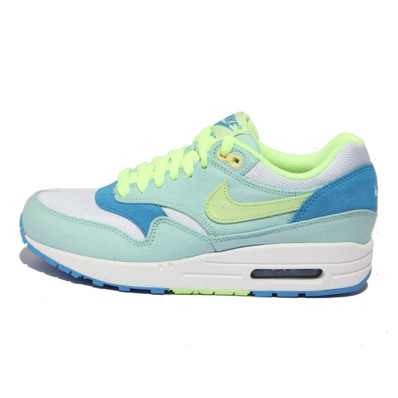 Nike Air Max 1 Julep Liquid Lime Coast White Women\u0027s Sneakers . nice womens  sport shoes