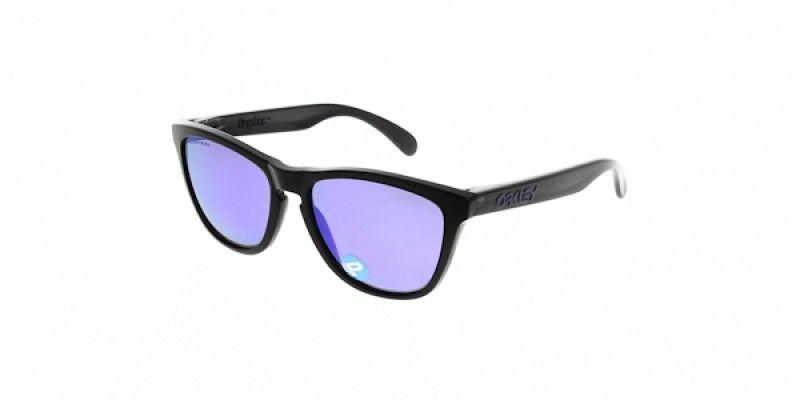 c8c7efffbc2 Oakley Sunglasses Frogskins Black Ink Violet Iridium Polarised OO9013-0955