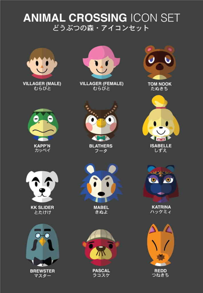 Animal Crossing Icons By Student Icons Animal Crossing Icon Set