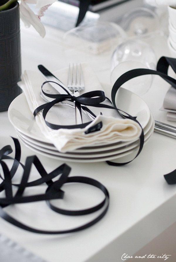 [Cottage] Black & White~ #borddekkingnyttårsaften