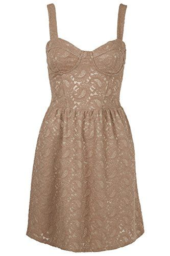 Topshop Paisley Floral Lace Corset Tunic Summer Dress in Nude Blush (12) Topshop http://www.amazon.co.uk/dp/B00L5HQEG6/ref=cm_sw_r_pi_dp_I8QUtb0NP4ZP43S2