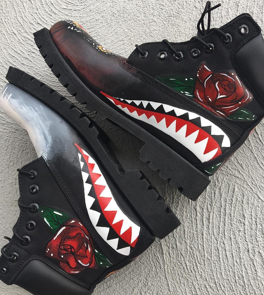 184c60fffe18 Freestyle custom  timberland boots. Full video coming soon  art  eka  brand