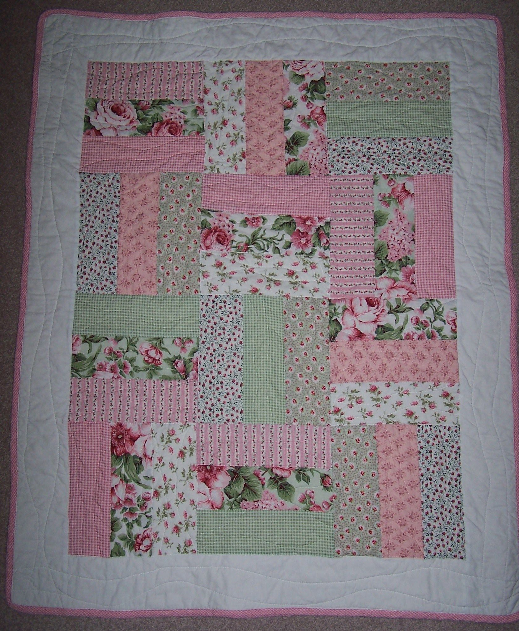 baby quilts | Quick and easy cot quilt | Linny J Creations ... : cot patchwork quilt patterns - Adamdwight.com
