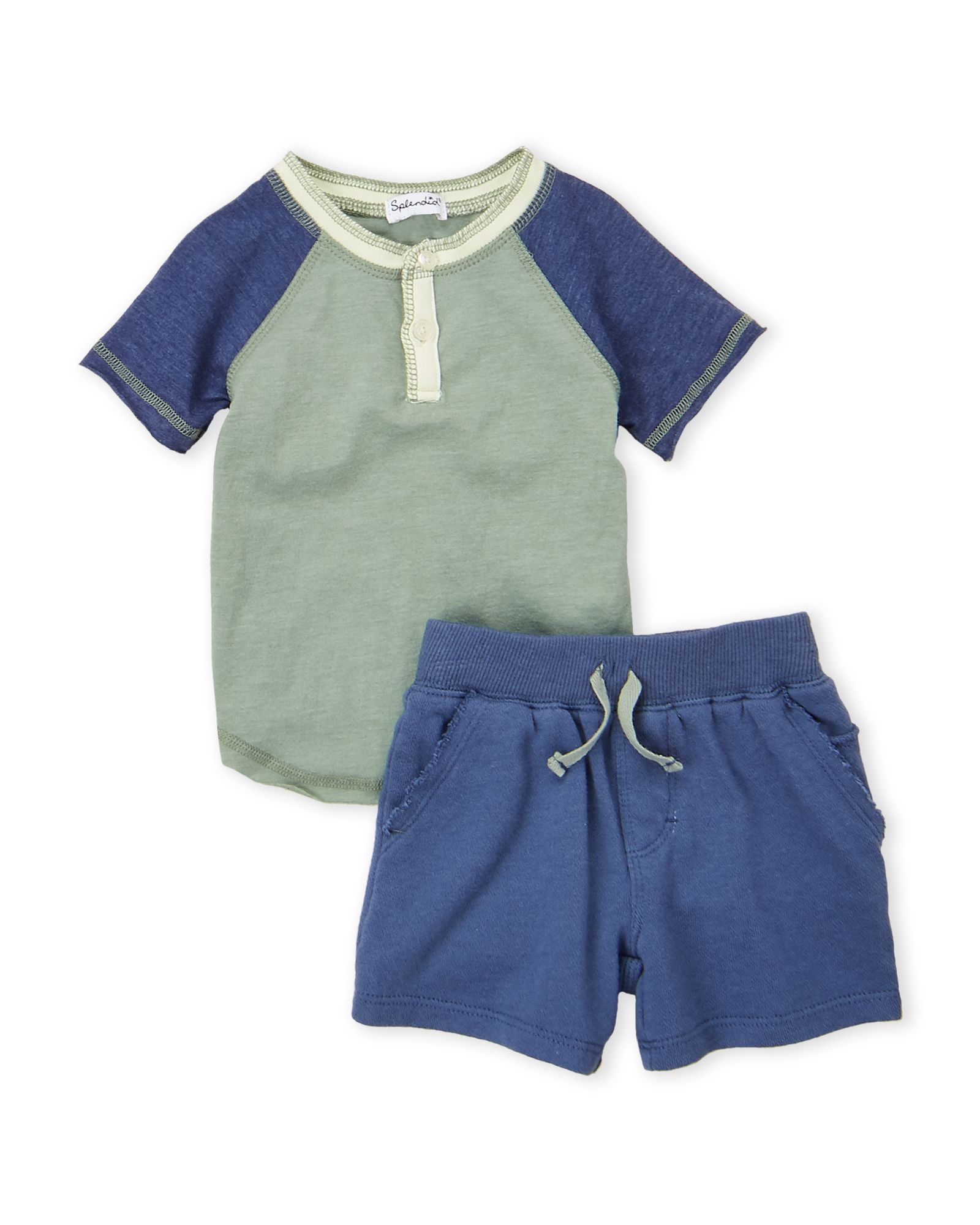 c84aeb2a1b0d5 Newborn/Infant Boys) Two-Piece Henley Tee & Shorts Set in 2019 ...