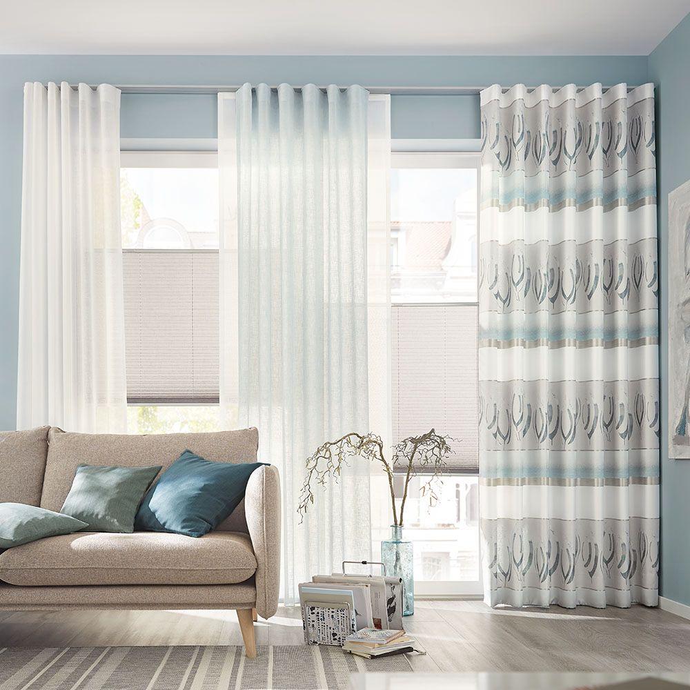 Gardinen Vorhang Kombi Für Ihre Wohnräume Fensterdekoration Gardinen Modern Gardinen