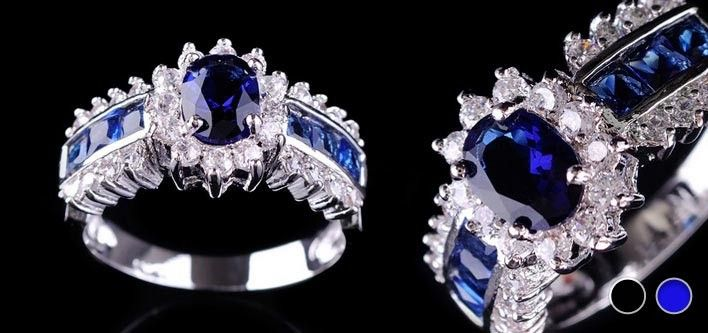 24 For A 10k White Gold Filled Ring With Blue Sapphires Tax Included 240 Value Cheap Jewelry Online Gold Filled Ring Jewelry