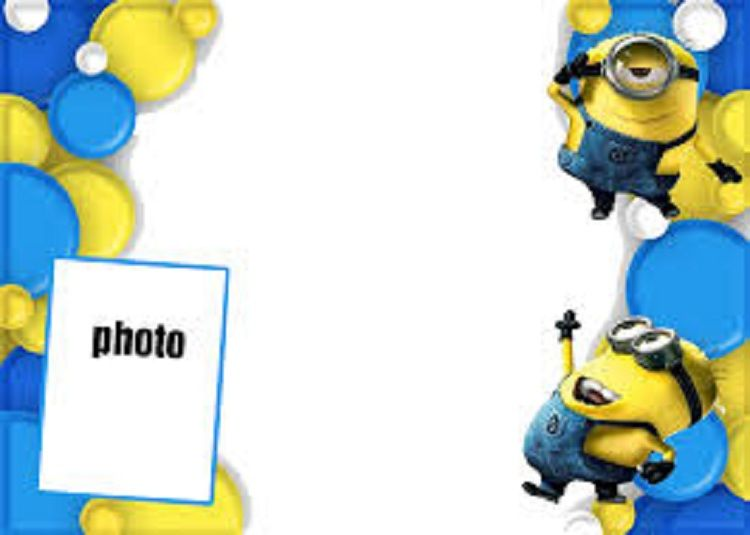 Minion Party Invitations Blank Invitation Card In 2019 Minion