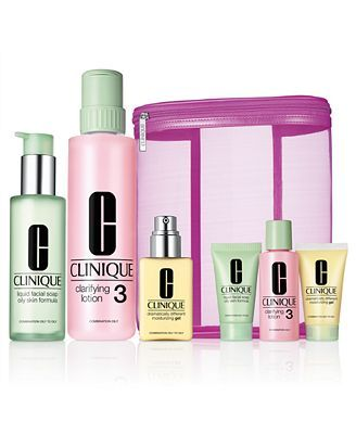 Clinique Great Skin Home And Away Value Set 3 Step Types 3 4 Reviews Beauty Gift Sets Beauty Macy S Skincare Set Clinique Clinique Gift