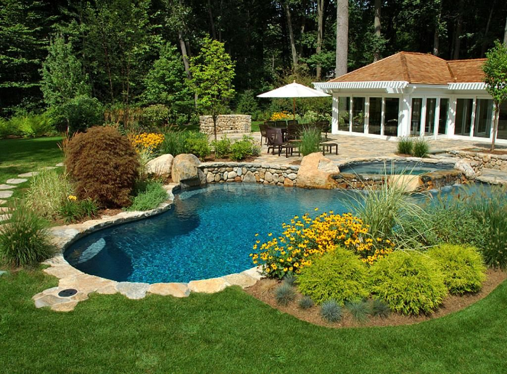 Garden Ideas Around Swimming Pools easy landscaping around pools | re-landscape around the pool, with