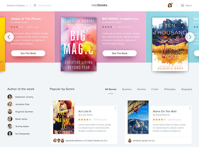 40 Fantastic Online Book Store Web Designs Bashooka Web Design Website Design Company Website Design