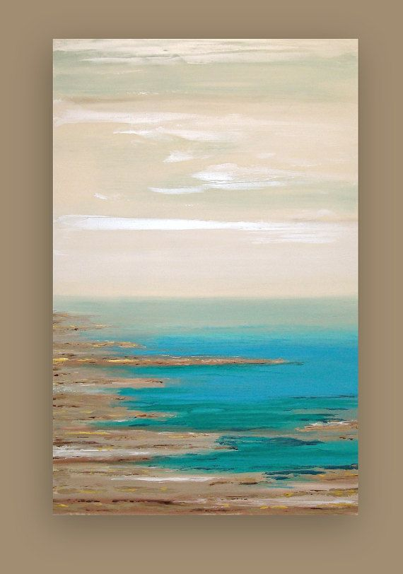 Reserved Art Abstract Beach Acrylic Large By Orabirenbaumart