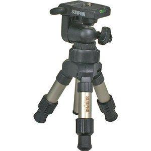 Sunpak MINI-PLUS Mini Tripod with 3-Way Panhead (Electronics)  http://www.amazon.com/dp/B00009UT1Q/?tag=goandtalk-20  B00009UT1Q