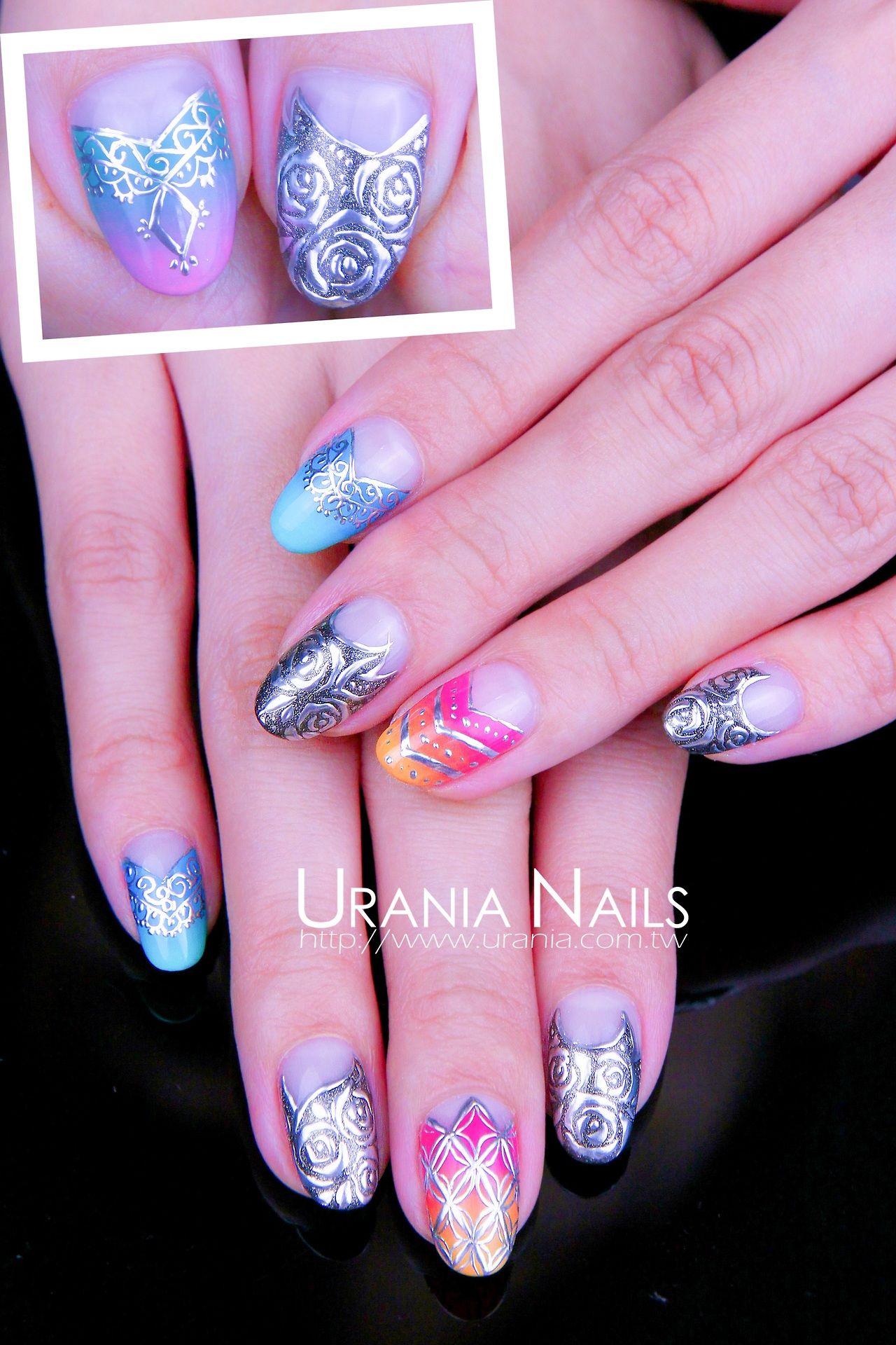 Urania Asia Nail Nails Nailart Nageldesign Pinterest