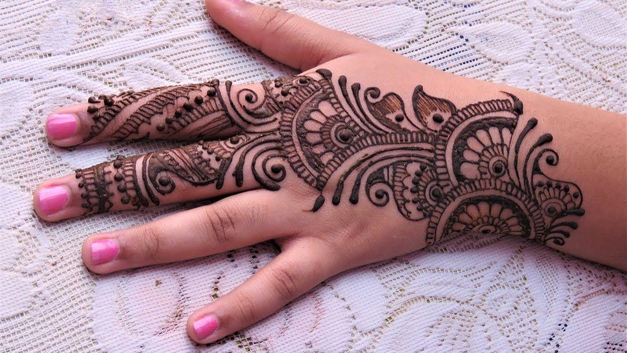 57fa75eeaef Easy Simple Arabic Henna Mehndi Designs For Hands Tutorial for Eid ...