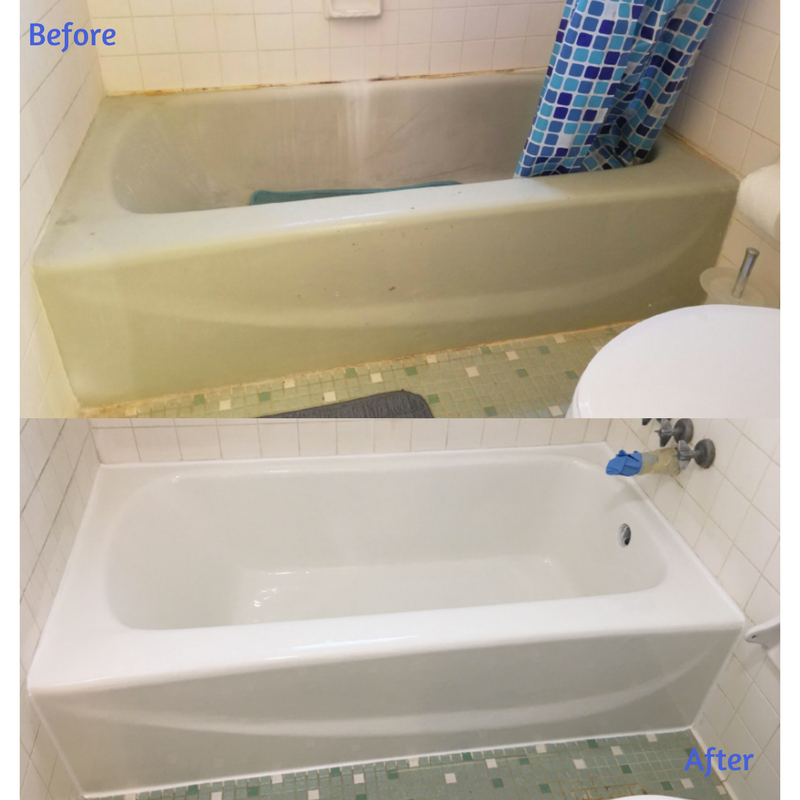 Ordinaire Itu0027s Amazing What A Tub Resurface And New Caulking Can Do For A Bathroom.  Come See What We Can Accomplish In Your Bathroom In Under 3 Hours!