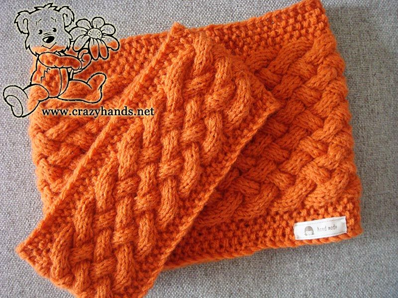 Duo of free knitting patterns - cowl scarf and knitted headband with ...