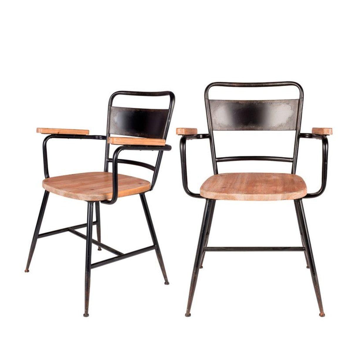 Gene 2 Chaises Avec Accoudoirs Vintage Chaise Vintage Chaise Accoudoir Et Chaise
