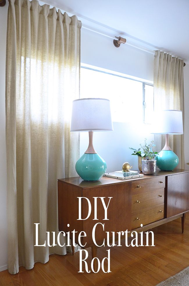 Diy Lucite Curtain Rod How To Make Your Own Curtain Rod Diy