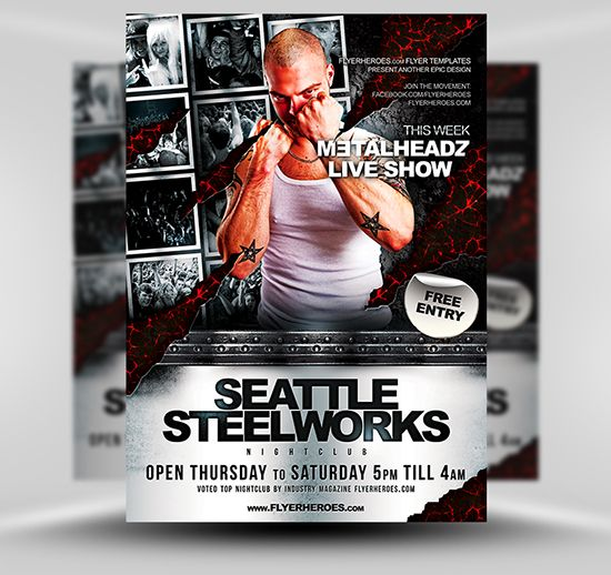 Steelworks Flyer Template Free Psd Photoshop Flyer Poster