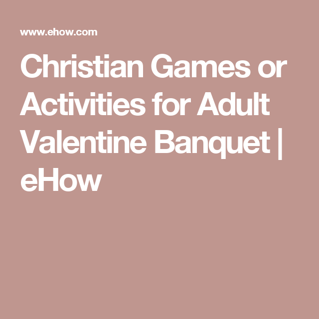 Adult christian party games