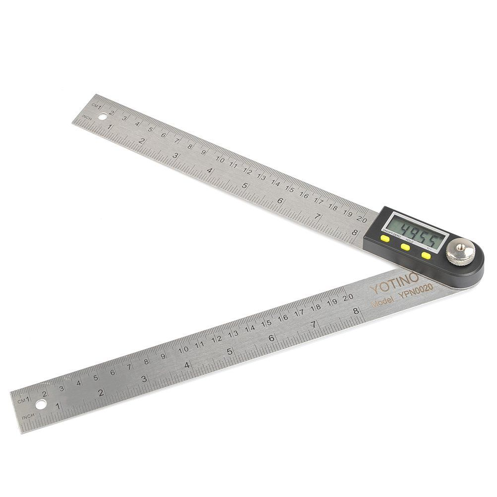 Yotino 8inch 200mm Digital Angle Finder Ruler Digital Protractor With Zeroing Hold Unit Conversion For C Woodworking Tools Woodworking Projects Diy Woodworking
