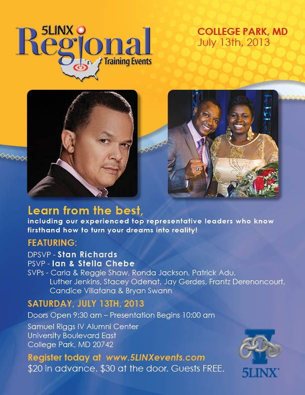 5LINX Regional Training Event - Saturday July 13, 2013 in College Park, Maryland Register TODAY at www.5LINXevents.com