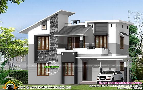 Villa For Sale At Calicut Kerala Front Wall Tiles House Front Wall Tiles Design