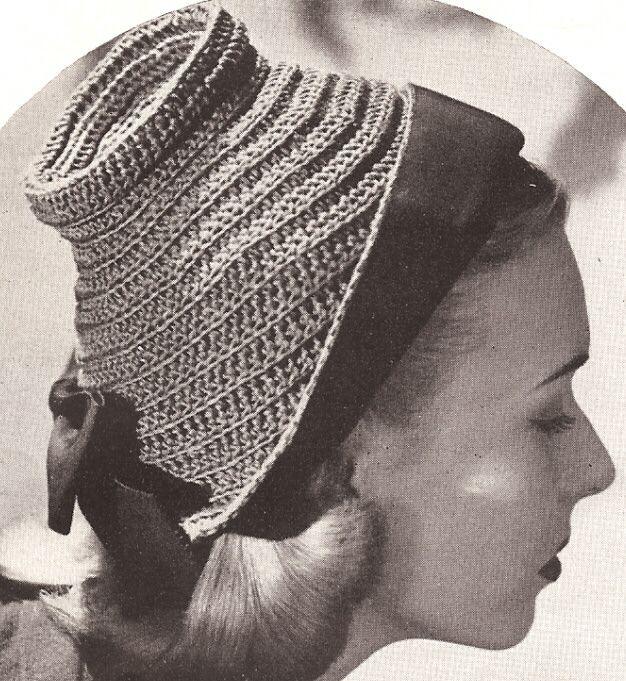 Patrón de ganchillo 1920 Millie Estilo de la aleta del Cloche ...