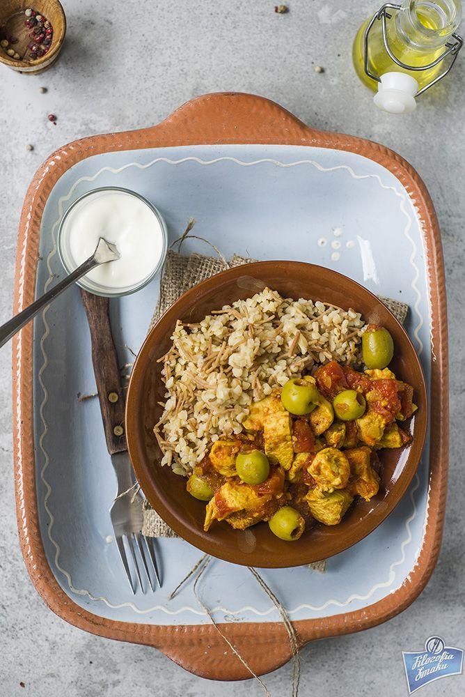 Kurczak z oliwkami po marokańsku