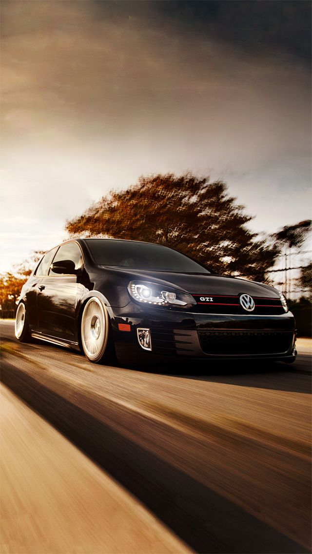 Volkswagen Golf GTI #iPhoneWallpaper | iPhone Wallpapers | Pinterest | Volkswagen golf ...