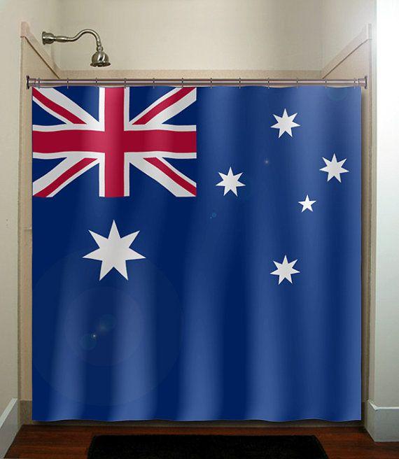 Australia Flag Shower Curtain Bathroom Design Decor Unique