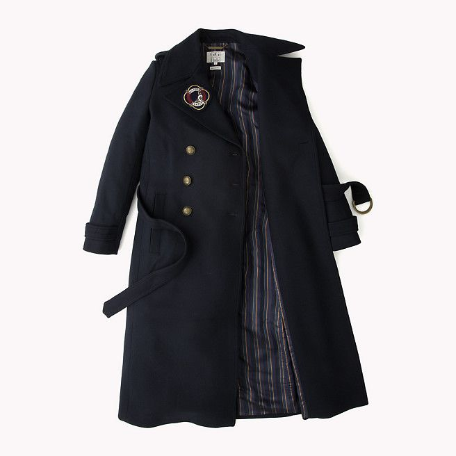 Tommy Hilfiger Long Military Wool Coat Gigi Hadid - midnight - Tommy Hilfiger Coats - detail image 5