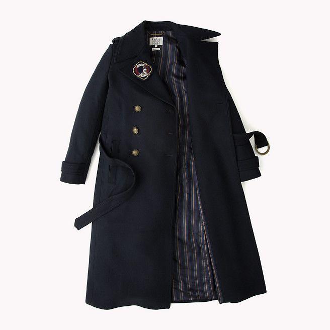 Tommy Hilfiger Long Military Wool Coat Gigi Hadid - midnight - Tommy Hilfiger Coats - detail image 5
