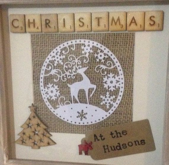 Personalised Christmas Frame Personalised By Kindredkraftbylouise Christmas Box Frames Christmas Frames Christmas Decorations Rustic Tree