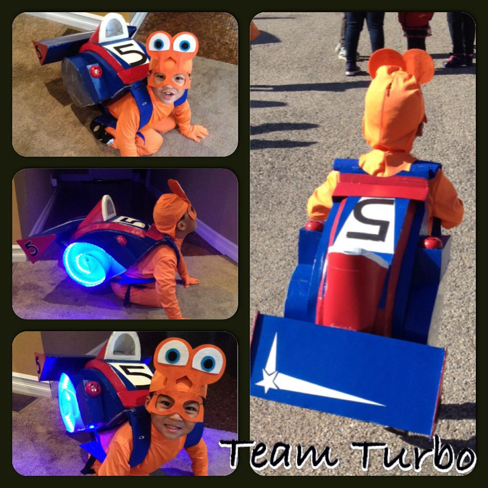 Homemade Turbo Costume with lights and sound!!