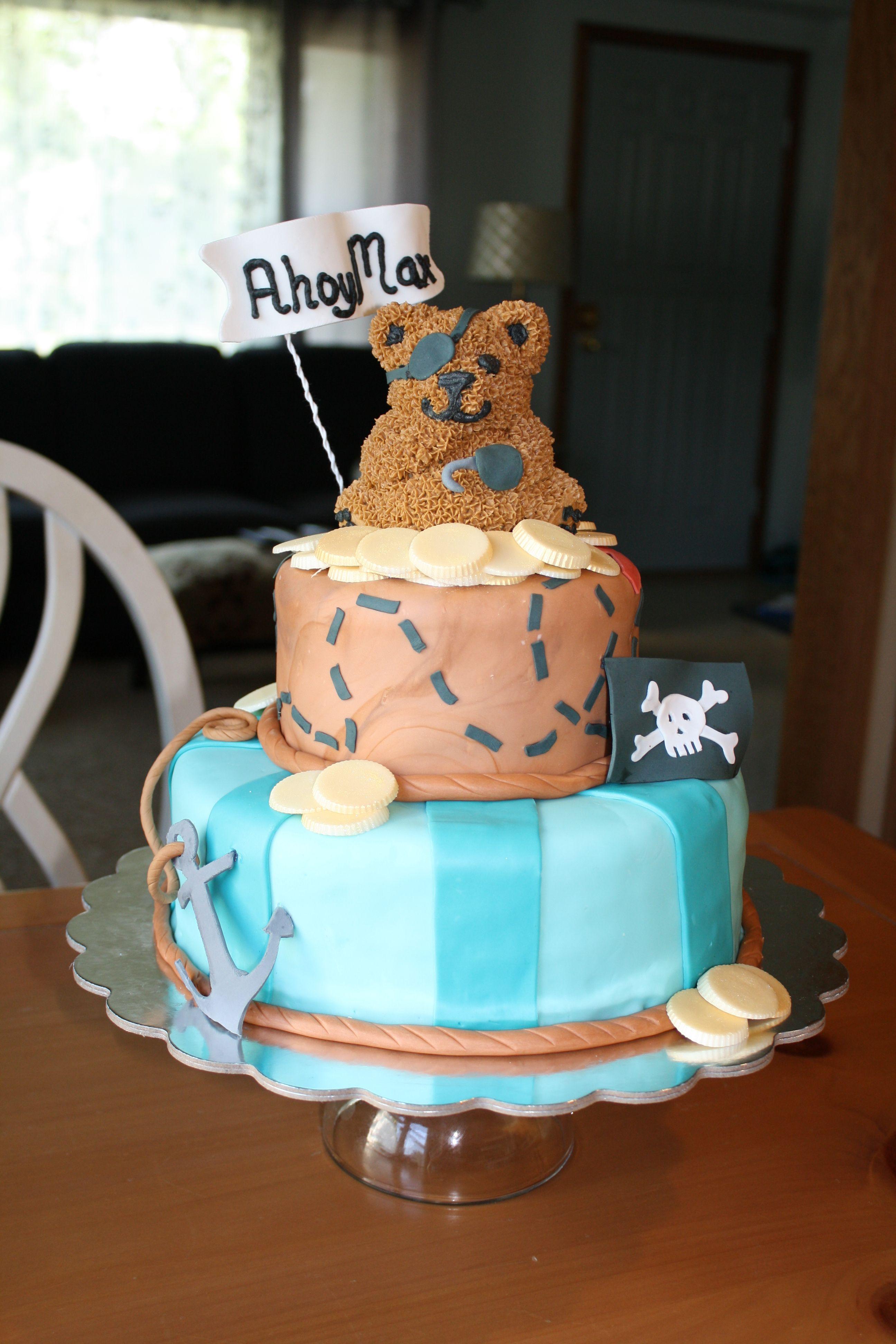 Pirate Baby Shower Cake