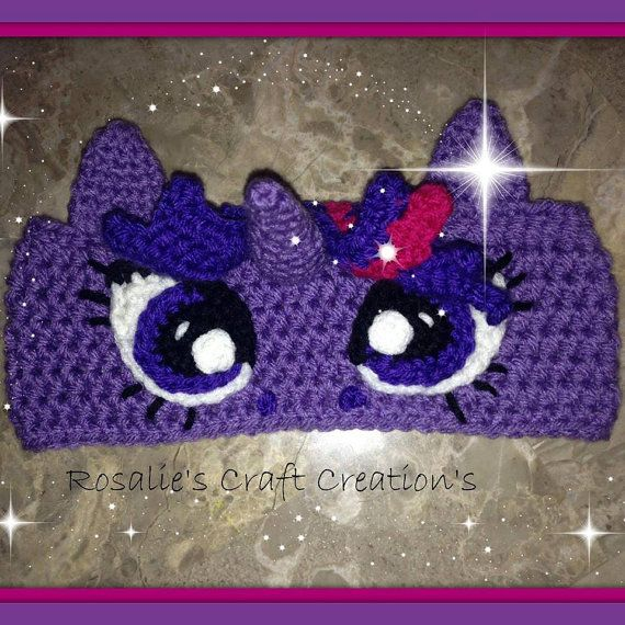Crochet Finished My Little Pony Twilight Sparkle Earwarmer | VINCHAS ...
