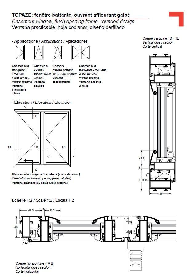 Detalle de puerta pivotante buscar con google detalles for Section window design
