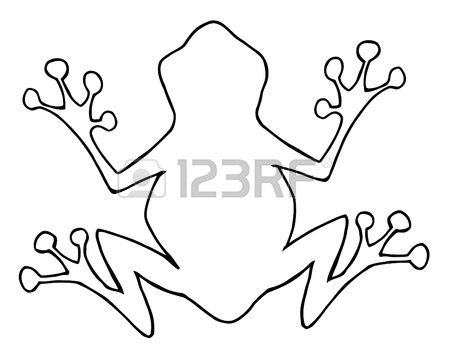 outlined frog silhouette rainforest crafts pinterest