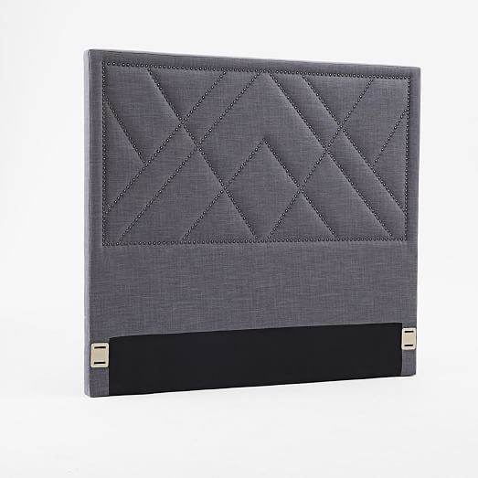 Patterned Nailhead Headboard - Upholstered | West Elm | roommates ...