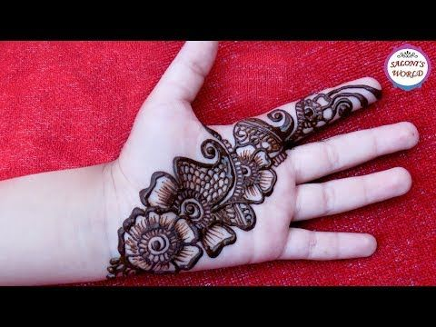 Easy Simple Arabic Henna Easy Mehndi Design For Beginners By Jyoti Sachdeva Youtube Mehndi Designs Desain Henna Henna Tangan