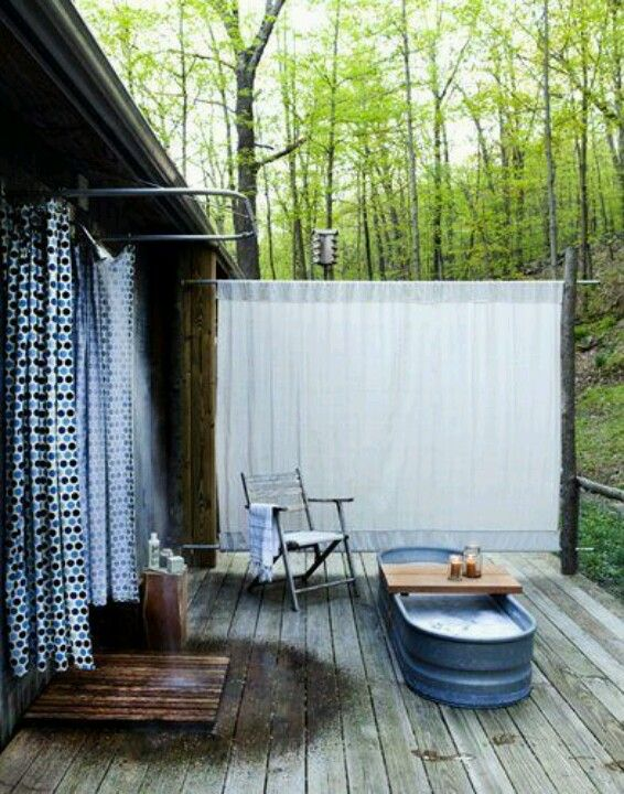 Outdoor shower and tub | Home | Pinterest | Tubs, Shower tub and ...