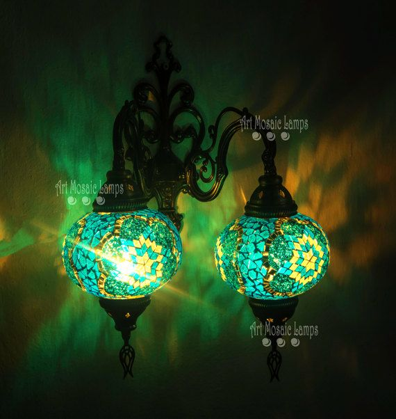 Unique room lighting,mosaic Turkish lamps,vanity lighting,holiday ...