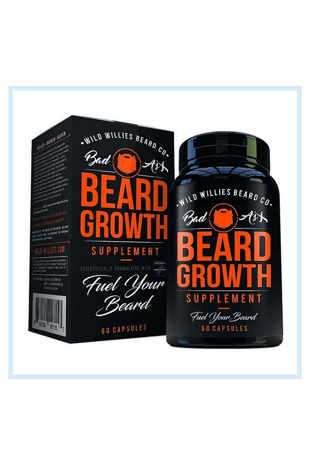 Wild Willies 60-Capsule Beard Growth Supplement - The scientifically formulated Wild Willies Beard Growth Supplement is designed to help you achieve a fuller, thicker beard. Each of these 60 capsules fosters stronger, faster, and healthier facial hair growth, so your beard can really shine.