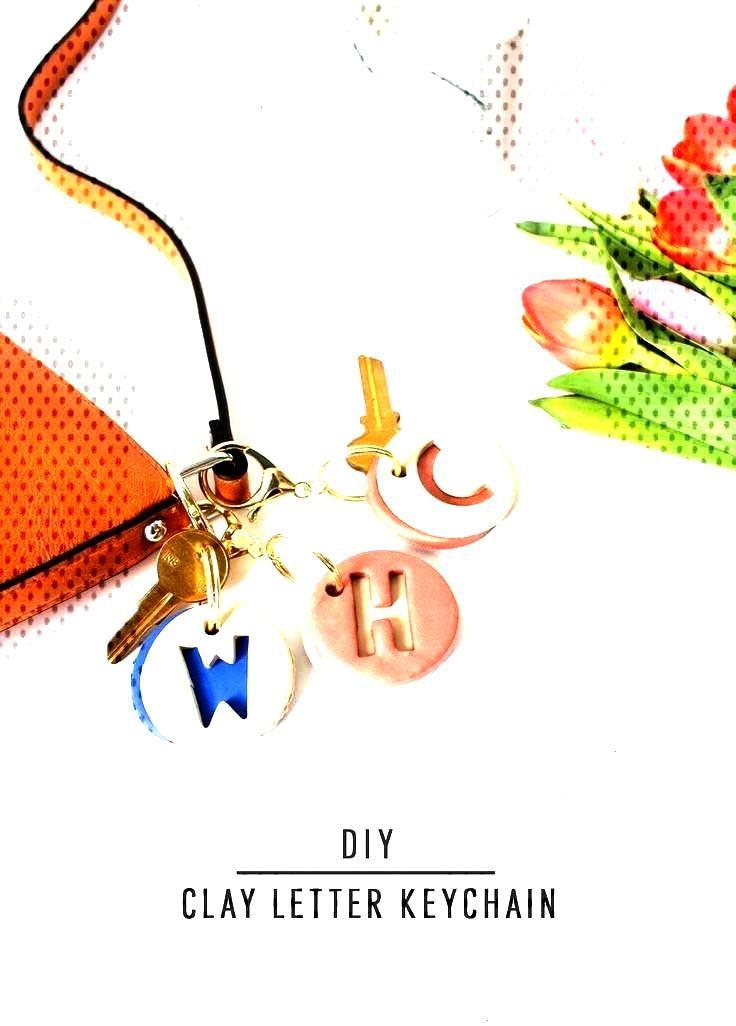 DIY Clay Letter Keychain| Sugar amp Cloth DIY Accessories - DIY clay letter keychain by Sugar amp Cl
